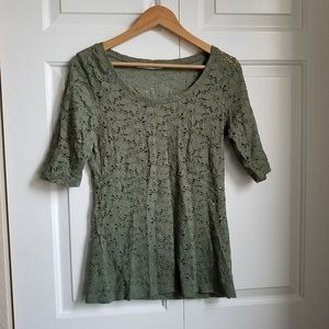 Maurices army green lace top